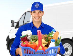 Wir bringen Ihren Einkauf mit unseren Lieferservice frei Haus